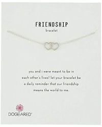 "Dogeared - Friendship, Linked Open Heart Chain Bracelet, 6""+1"" Extender - Lyst"