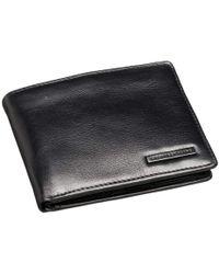 Geoffrey Beene Leather Passcase Billfold Wallet - Black