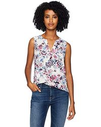 Adrianna Papell Printed Sleeveless Blouse - Multicolor