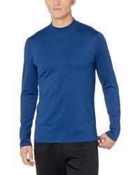 Peak Velocity Thermal Long Sleeve Mock Neck Athletic-fit - Blue