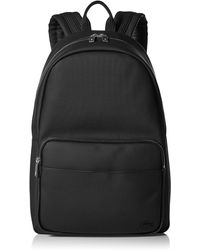 Lacoste Solid Large Zip Backpack - Black