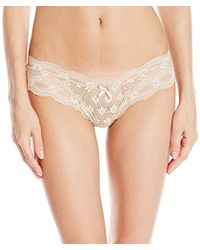 ca258fd465b Lyst - Eberjey Eberjey India Lace Lowrise Boythong in Natural