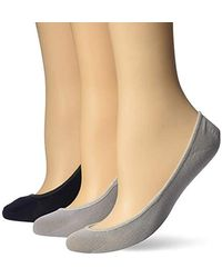 Sperry Top-Sider - Solid Micro Liner Socks 3-pair, Navy Assorted, Shoe Size: 5-10 - Lyst