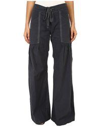 XCVI Willow Wide Leg Stretch Poplin Pants, Charcoal, Sm ( 4-6) X 33 - Gray