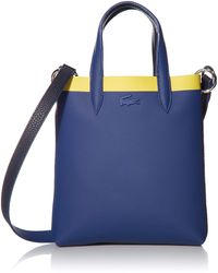 Lacoste Contrast Anna Vertical Shopping Tote Bag - Blue