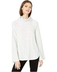 Michael Stars Womens Madison Brushed Sweater Rib Long Sleeve Turtleneck Raglan