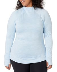 Core 10 Standard Be Warm Brushed Thermal Fitted Mock Long - Blue