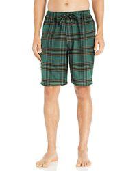 Goodthreads Flannel Pyjama Short Green Tartan