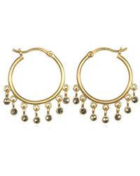 Satya Jewelry - Pyrite Gold Hoop Earrings, One Size - Lyst