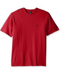 U.S. POLO ASSN. Big And Tall Big & Tall Crew Neck Small Pony T-shirt - Red