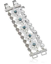 Betsey Johnson - Blue La La Flower Multi Row Bracelet - Lyst