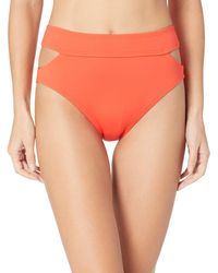 Vince Camuto High Waist Bikini Bottom Swimsuit With Cut Out Detail - Multicolor