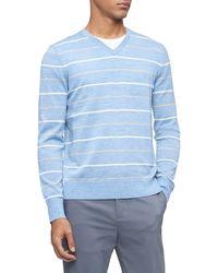 Calvin Klein Merino Sweater V-neck - Blue