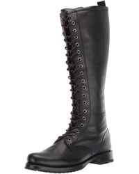 Frye Veronica Combat Tall Boot - Black