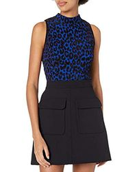 MILLY Leopard-print Sleeveless Top - Blue