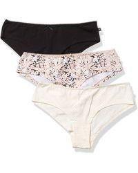 Jessica Simpson Cotton Hipster Panties Underwear Multi-pack - Black