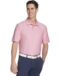 Skechers Golf Pitch Shot Short Sleeve Solid Golf Polo - Pink