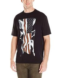 Guess - Shimmer Flag Oversized T-shirt - Lyst