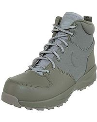 Nike Manoa Leather Hiking Boot - Gray