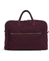 Vera Bradley Iconic Grand Weekender Travel Bag, Microfiber, Mulled Wine - Purple