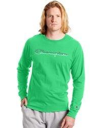 Champion - Logo Graphic Long Sleeve T-shirt - Lyst
