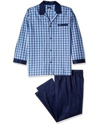 Jockey Woven Long Sleeve Pajama Set - Blue
