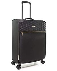 DKNY Quilted Expandable Softside Spinner Luggage - Black