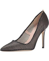 save off 59cca 9d2fc Christian Louboutin Neoalto 100 Fishnet Pump - Lyst