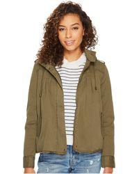 Lucky Brand Raw Edge Military Jacket - Green