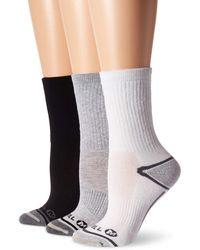 Merrell 3 Pack Performance Hiker Crew Socks Hiking - Grey
