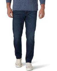Wrangler Ultra Flex Regular Fit Tapered Jeans - Blau