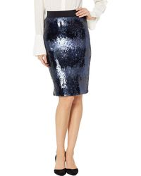 Vince Camuto S Ombre Sequin Pencil Skirt Classic Navy 14 - Blue