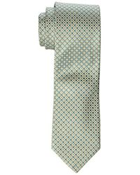 Geoffrey Beene Big-tall All Day Neat Extra Long Tie - Green