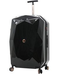 Kensie 3d Gemstone Tsa Lock Hardside Spinner Luggage - Black