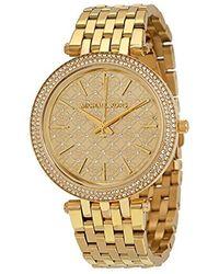 43a7ba6628f4 Lyst - Michael Kors Wren Pave Chronograph Watch in Metallic