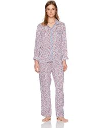 Tommy Hilfiger Classic Girlfriend Notch Collar Pajama Set Pj - Multicolor