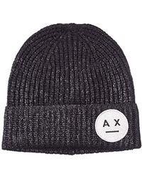 9427e353a1c Lyst - Armani Exchange Hat in Black
