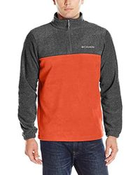 Columbia Steens Mountain Half Zip Soft Fleece Jacket - Multicolor
