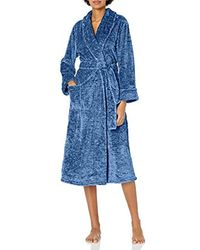 N Natori Plush Melange Robe - Blue