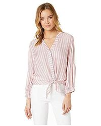 Michael Stars - Catalina Kendra Tie Front Striped Top - Lyst