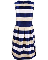 Tommy Hilfiger Nightfall Stripe Jaqauard Dress - Blue