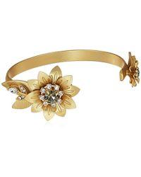 Badgley Mischka Petal Gold Cuff Bracelet, One Size - Metallic