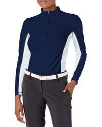 Izod Golf Long Sleeve 1/4 Zip Pullover Shirt - Blue