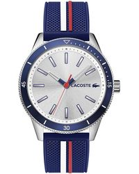 Lacoste Stainless Steel Quartz Watch With Rubber Strap - Blue
