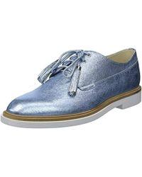 Kenneth Cole Annie Swear Styled Oxford Flat - Blue
