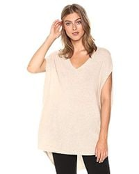 Theory - Sleeveless Vneck Cape Sweater - Lyst