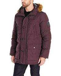 Tommy Hilfiger - Arctic Cloth Full Length Quilted Snorkel Jacket - Lyst