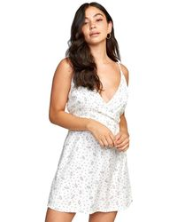 RVCA Womens Lacey Woven Tank Dress - White