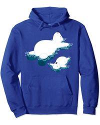 Original Penguin Climate Change Polar Bear And Penguin Pullover Hoodie - Blue