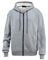 Wolverine Flame Resistant Fleece Zip Front Hooded Sweatshirt - Gray